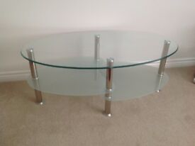 Glass Coffee Table - Modern design, excellent condition