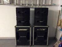 Bose PA system