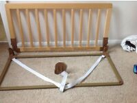 BabyDan safety bedguard in natural/wood with user guide. Excellent condition