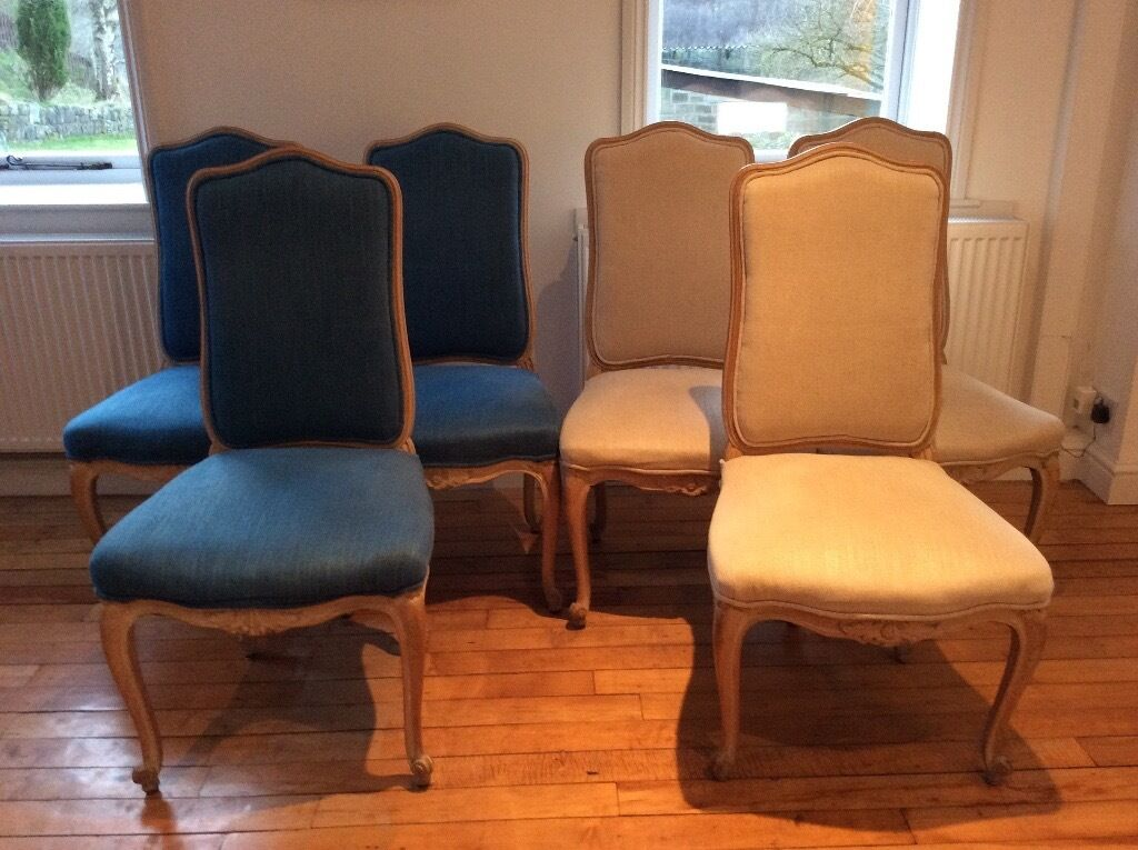 6 French Louis Xv Style Chairs Dining Chairs In Hebden