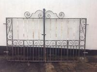 Pair of heavy duty driveway Wrought Iron Gates