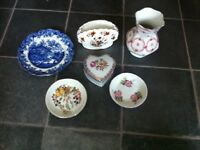 Bundle of vintage plates and vases