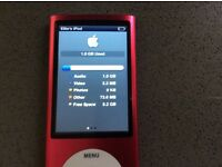 Apple iPod Nano in pink 8GB 5th generation