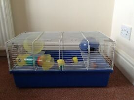 Hamster Cage: good size plus accessories
