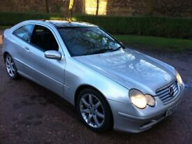 2003 MERCEDES C220 CDI 6-SPEED MANUAL COUPE*FULL MOT*GOOD WORKING ORDER.RUNS AND DRIVES AS IT SHOULD