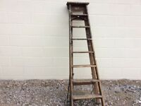 Old wooden step ladders
