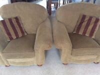 Alston 2 seater sofa and 2 armchairs and footstool