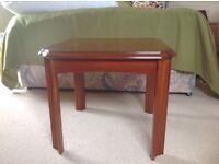 Oak Occasional table.Height 47cms.top 45cms