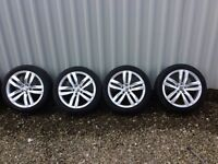 Vw 18 inch alloy wheels and tyres 235/45/18