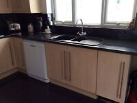 PRICED FOR A QUICK SALE - Kitchen unit, sink unit and tap, integral eye level double fan oven