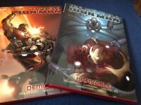 Hardback books The Invincible Iron Man - Unfixable and Demon (volumes 8 and 9)