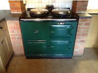 Aga Cooker 2 Oven, 13amp Electric in Green