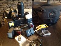 Nikon d3200 digital camera with a load of extras