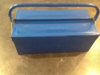 Draper blue metal tool box. Unwanted gift