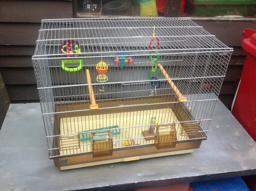 Bird cage with extras