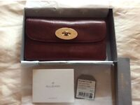 Auth mulberry classic long locked wallet oxblood colour