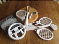 Nintendo compatible bats, rackets and wheel