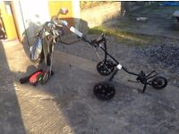 Mizuno Golf Club Set of Irons , Putter, 2 x Drivers , Bag & Trolley