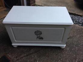 White ottoman/toy box