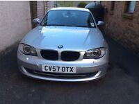 BMW 118D SE 2 Ltr. 2007 3 Dr H/B Diesel 2 Owners MOT to Nov'17 VGC, 52000 Miles F/R Sensors