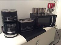 COFFEE MAKER,MICROWAVE,TOASTER,,CUTLERY SET AND EXTRAS