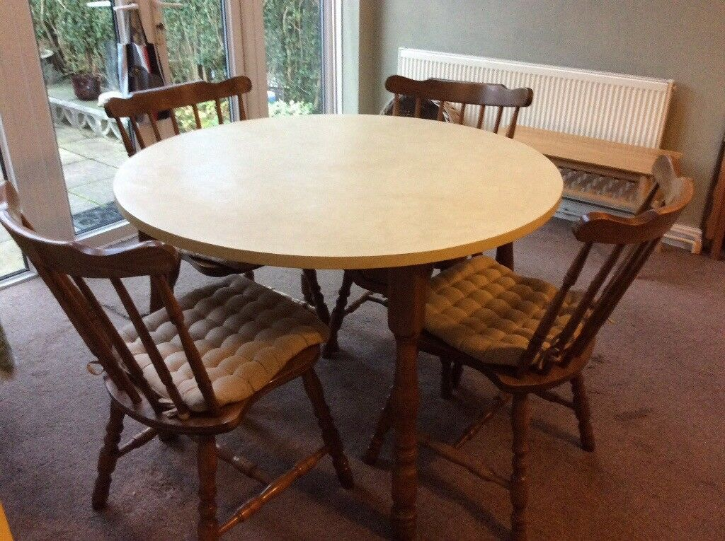 Solid Oak Table and 4 Chairs £100 can deliver