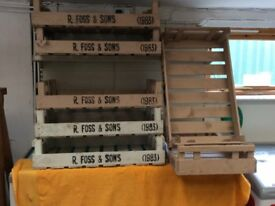 Painted Wooden Shop Display Crates or Shelving.