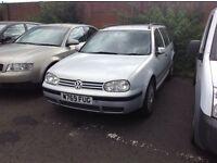 VW GOLF 1.9 TDI ESTATE CAR WITH M.O.T, WAS A EXCELLENT DRIVER AND RUNNER, HOWEVER CLUTCH HAS GONE,