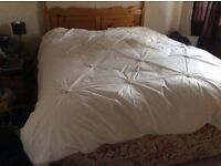 Double bed (base only). With pine head board