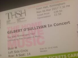 Gilbert O'Sullivan 50th Anniversay Tour Tickets in Birmingham Town Hall