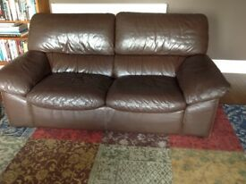 Dark brown leather suite