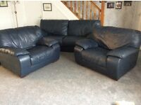 Leather 3piece suite, good quality used condition must be collected - free for quick removal