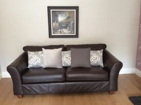 Marks and Spencer sofa, loveseat, chair and footstool.