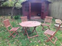 Patio Table & 4 Matching Chairs - Bargain!!!