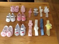Baby shoes and headbands