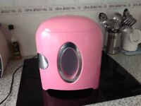 Pink mini fridge/ heater