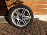 4 X AMG line wheels and Continental Conti Sport Contact tyres for Mercedes C Class