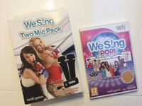 Wii 2 pack Mic & Dvd We sing