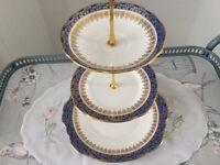 Duchess Bone China 3 Tier Cake Stand.