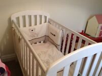 O'BABY Cot - Lily c/w mattress & bedding