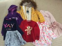 Bundle of girls clothes 4-5 years, backpack and handbag x18 items