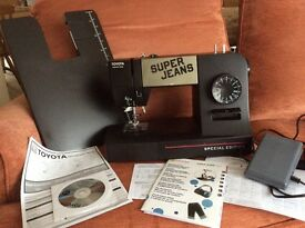 Toyota Super Jeans J 15 PE Sewing machine with Extension Table