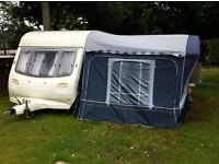 Tourine caravan Avondale grampian GXL 4 berth with a full size awning Quest Elite Sandrigam