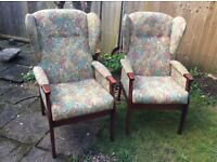 Two arm vintage chairs