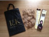 I&K hair extensions, clip in