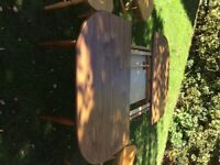 Extending table, 4 matching chairs and sideboard