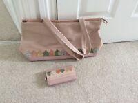 Genuine and original Radley handbag with matching purse ( beach hut design)