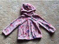 Next fleece hoody 2-3 years excellent condition
