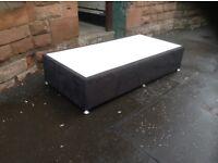 Single bed base,black velvet,£25.00