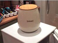 Cream ceramic Bread bin